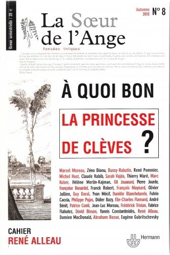 la princesse de clèves, la soeur de l'ange, jean-luc moreau, régis sauder, cinéma, littérature, débat