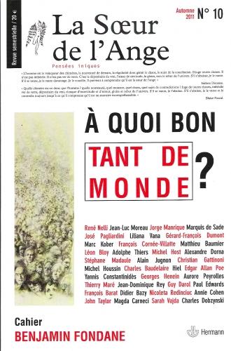 la soeur de l'ange,jean-luc moreau,michel host,guy darol,benjamin fondane,éditions hermann,revue,2011